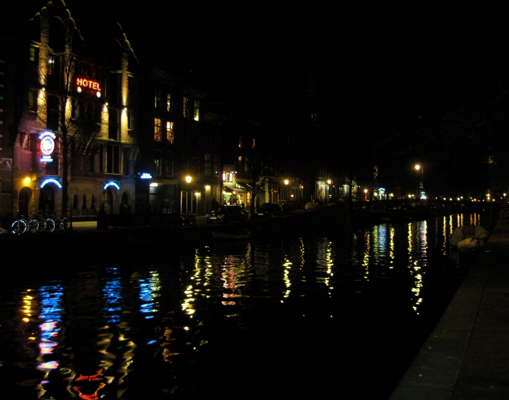 Amsterdam at Night by Water