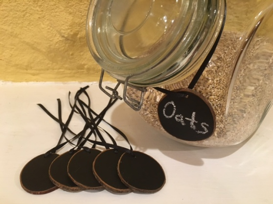Custom Wooden Chalkboard Labels for pantry or retail store