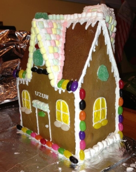 """Gingerbread House"" that looks like a Tudor style home"