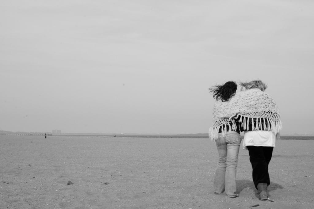 Cousins on the Beach Photograph