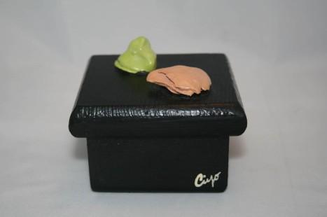 Wasabi and Ginger Sushi Bento Box - Clay & Paint