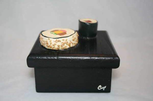 Sushi Roll Box - Clay and Paint