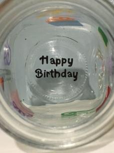 Personalized Happy Birthday Mason Jar drinking glass