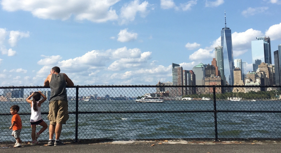 Family's Manhattan View from Governors Island