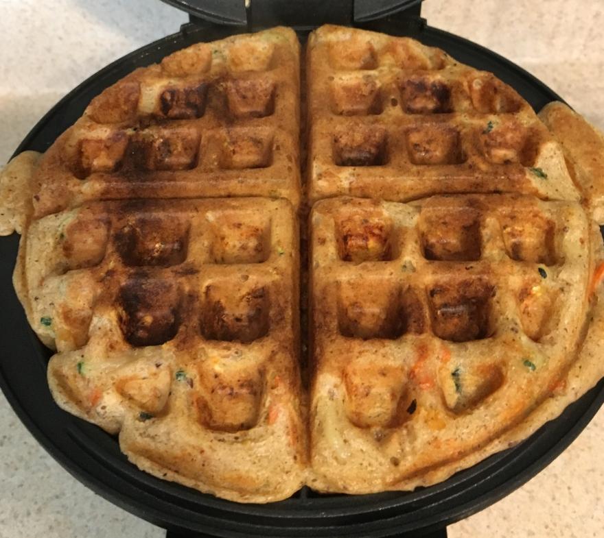 Vegetable belgian waffle