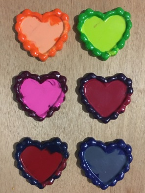 Multicolored Heart Valentine's Day Crayons