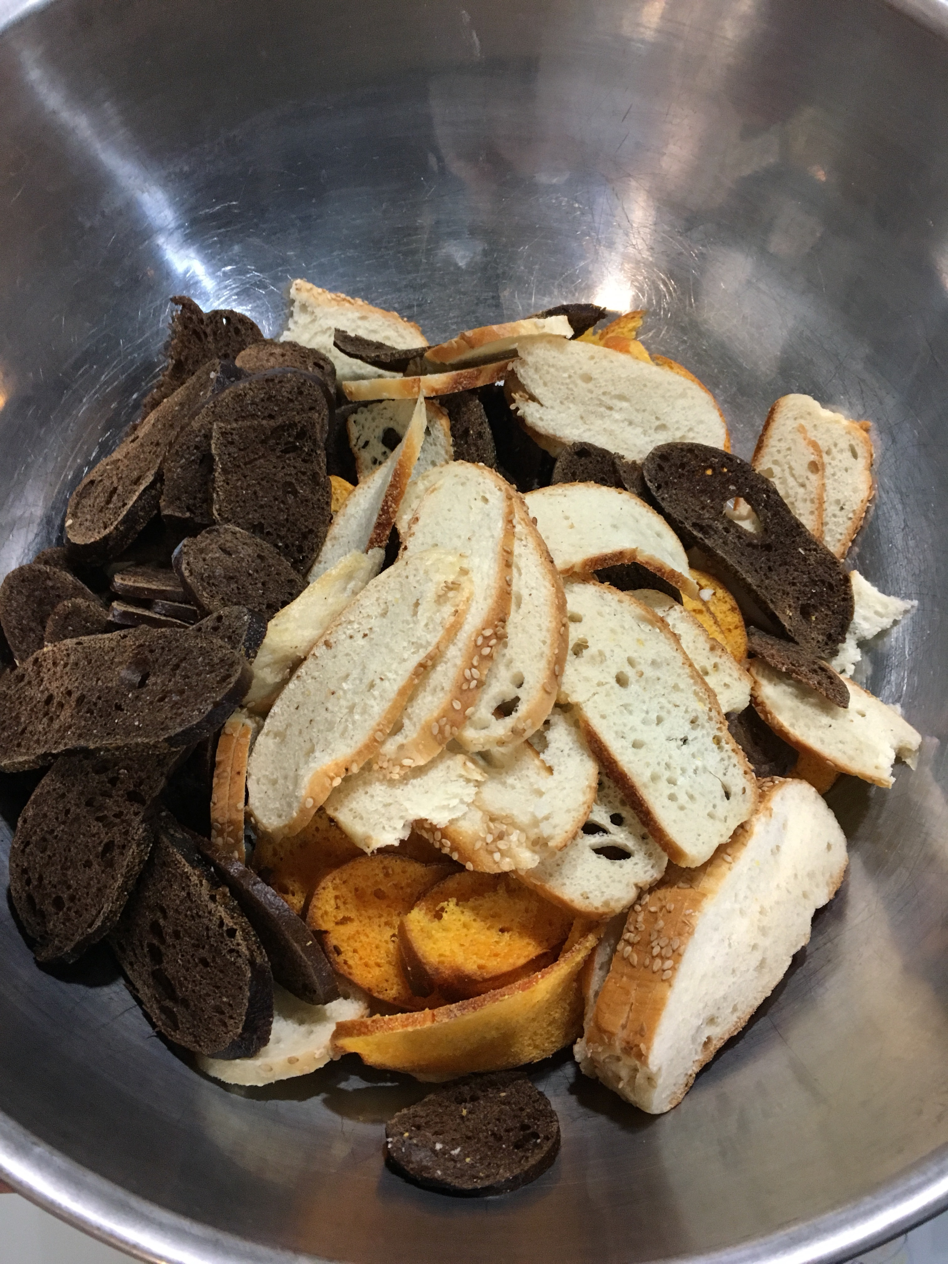 Sliced Bagels for Bagel Chip Recipe