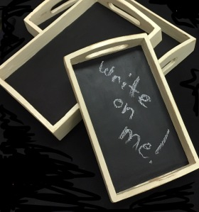 Custom Antique White Chalkboard Serving Trays