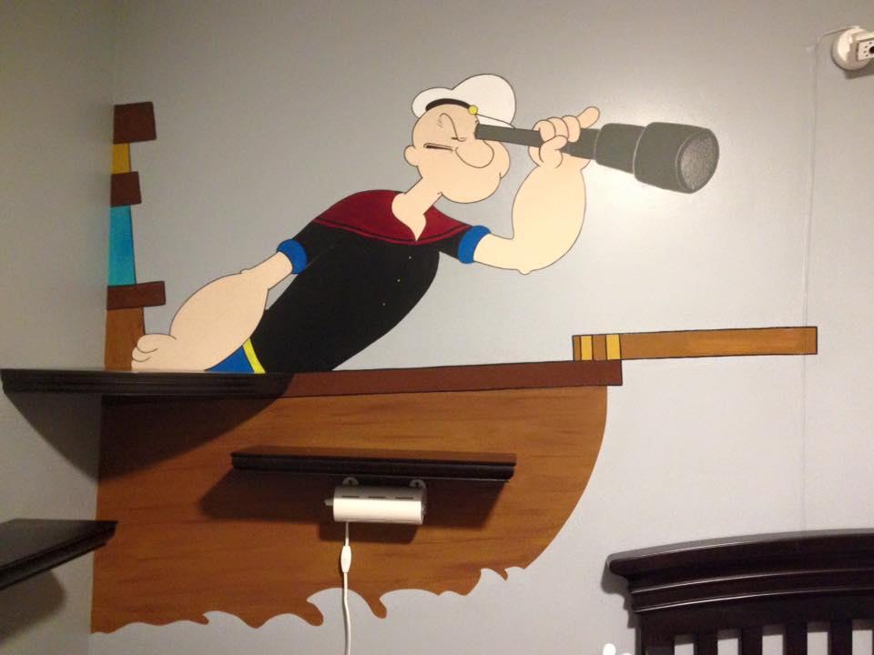 Popeye the Sailor man Mural