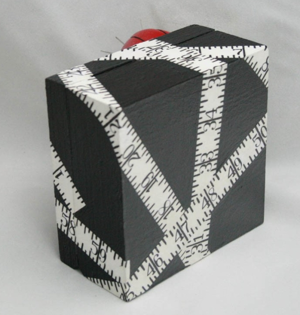 Sewing Box with hand-painted measuring tape