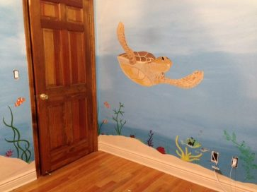 Under the Sea Turtle Mural