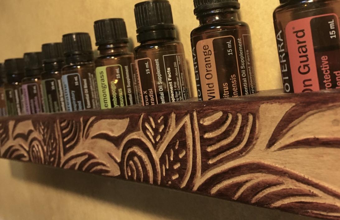Custom hand carved Essential Oil Holder for doTerra oils