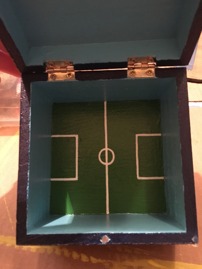 Custom Wooden box with Red Bulls Soccer