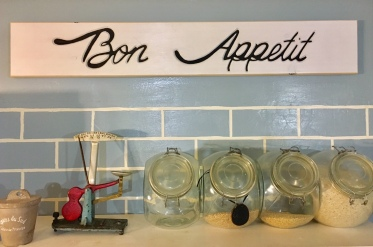 Customized Bon Appetit Wooden Sign is engraved and painted