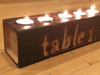 Personalized Rustic Centerpiece for Home or Wedding