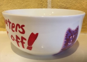 Custom Miranda Sings Cereal Bowl with Haters Back off and cats
