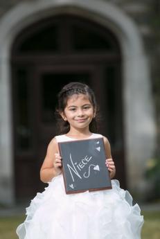 Custom Wedding Party Chalkboard sign for flower girl