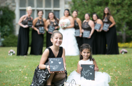 Custom Wedding Party Chalkboard sign to hold during pictures