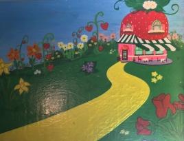 Custom Strawberry Shortcake Bench