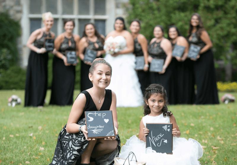 Wedding Bridal Party Chalkboard sign