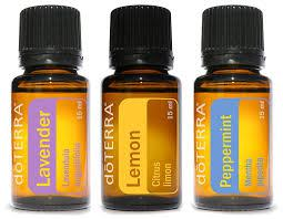 doTerra essential Oils Lavender, lemon and peppermint to but